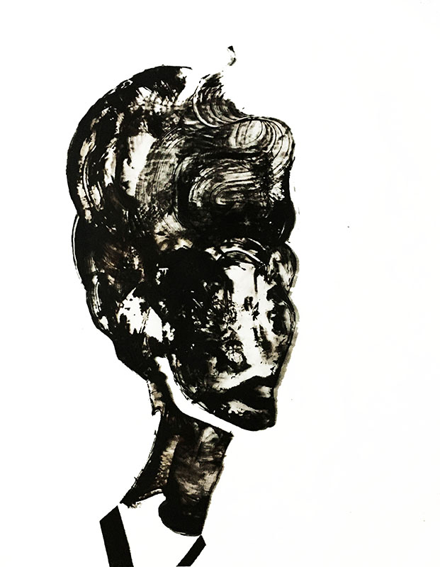 "Shadow: ""7"" (2020), acrylic on clear smooth pvc, 70x100 cm"