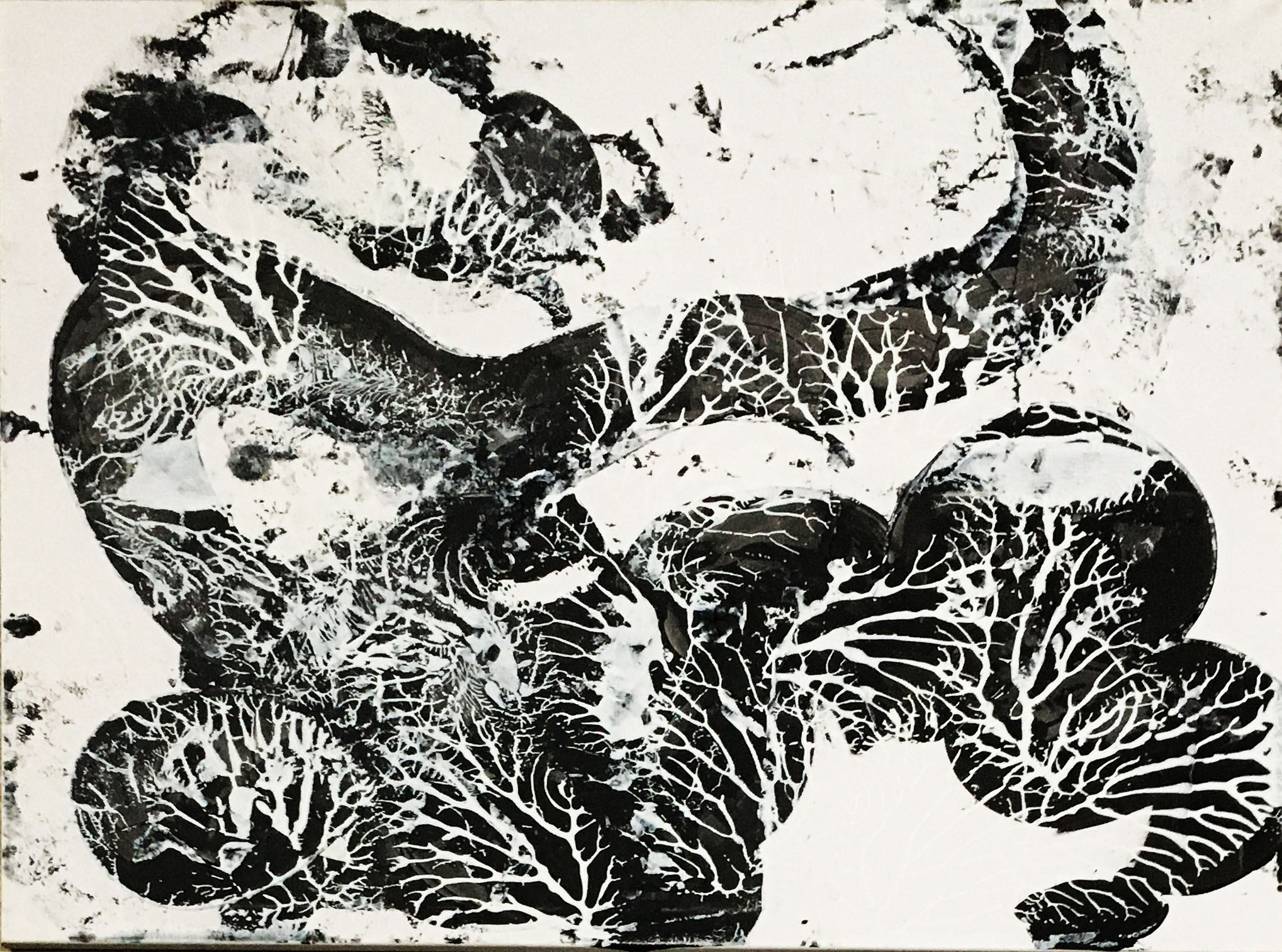 "Abstracts: ""Imprints, Animal1"", acrylics on canvas,100x80 cm,2021"