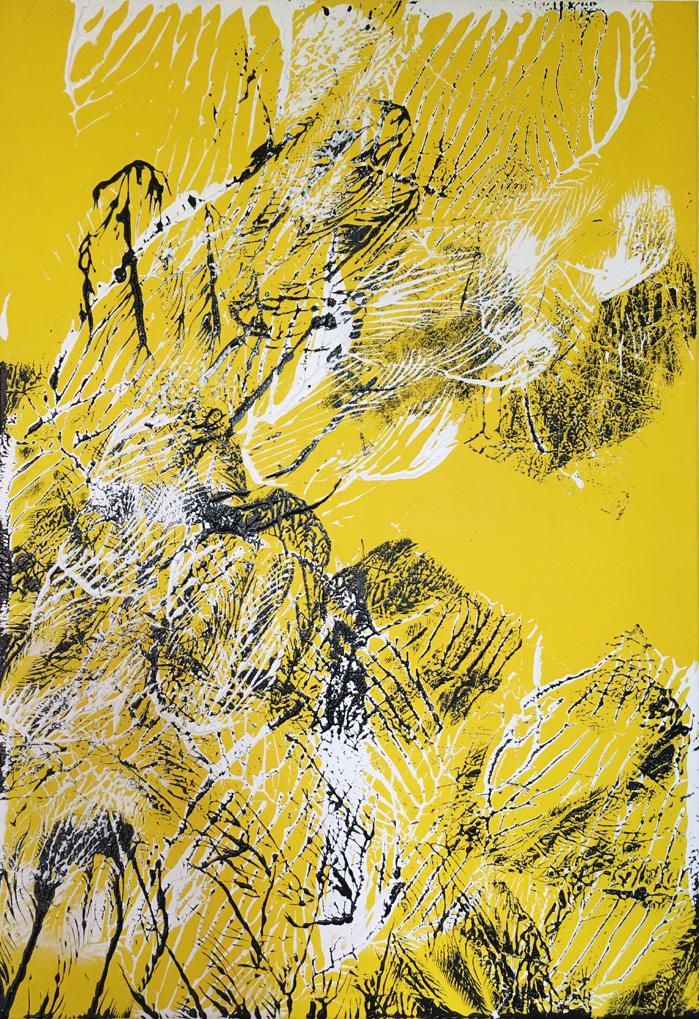 """Abstracts: """"Imprints,"""" In the sun"""""""", acrylics on canvas,100x70 cm,2021"""