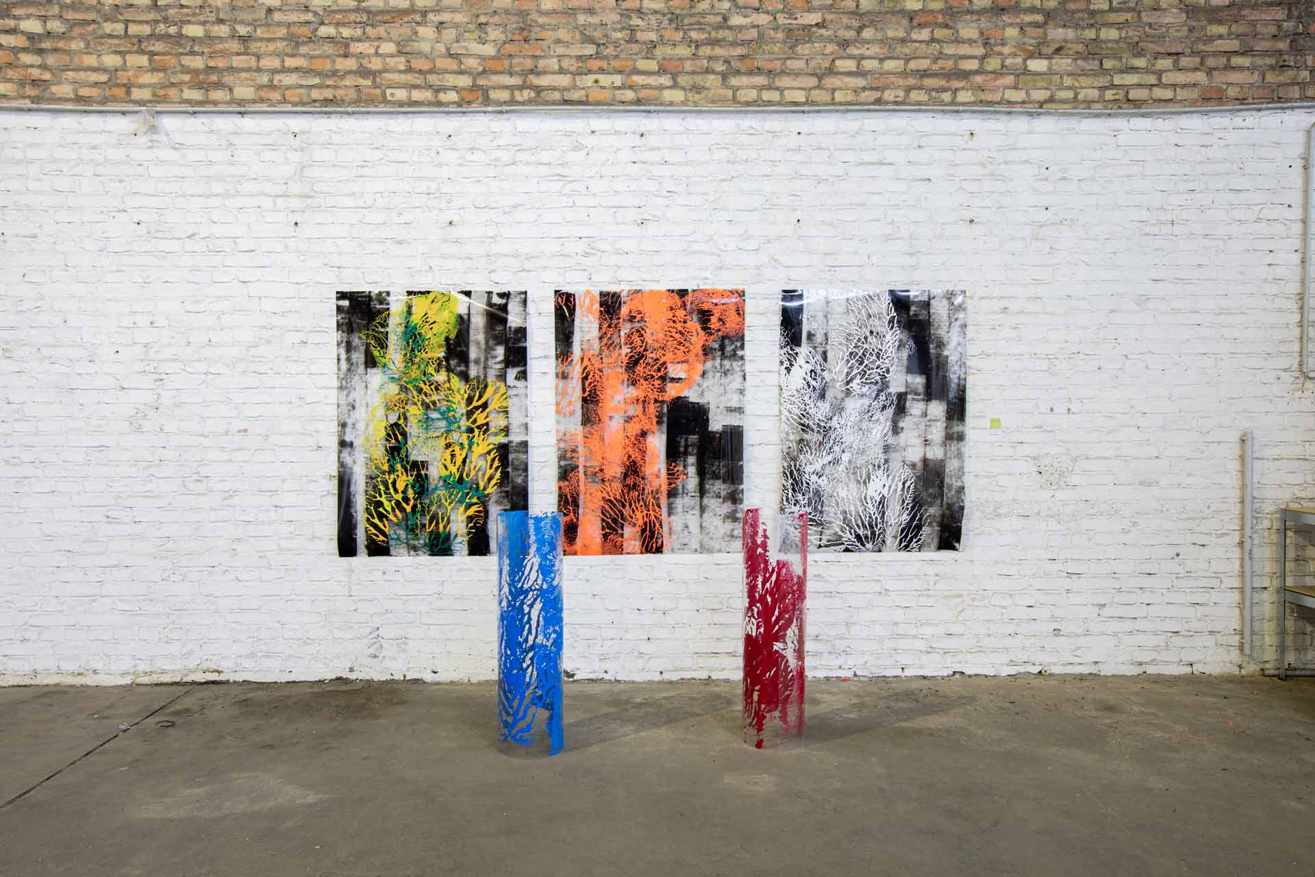 I am Us-April 2021. Acrylics on Canvas, Pvc. Art Residency, Napoleon Complex. Berlin.