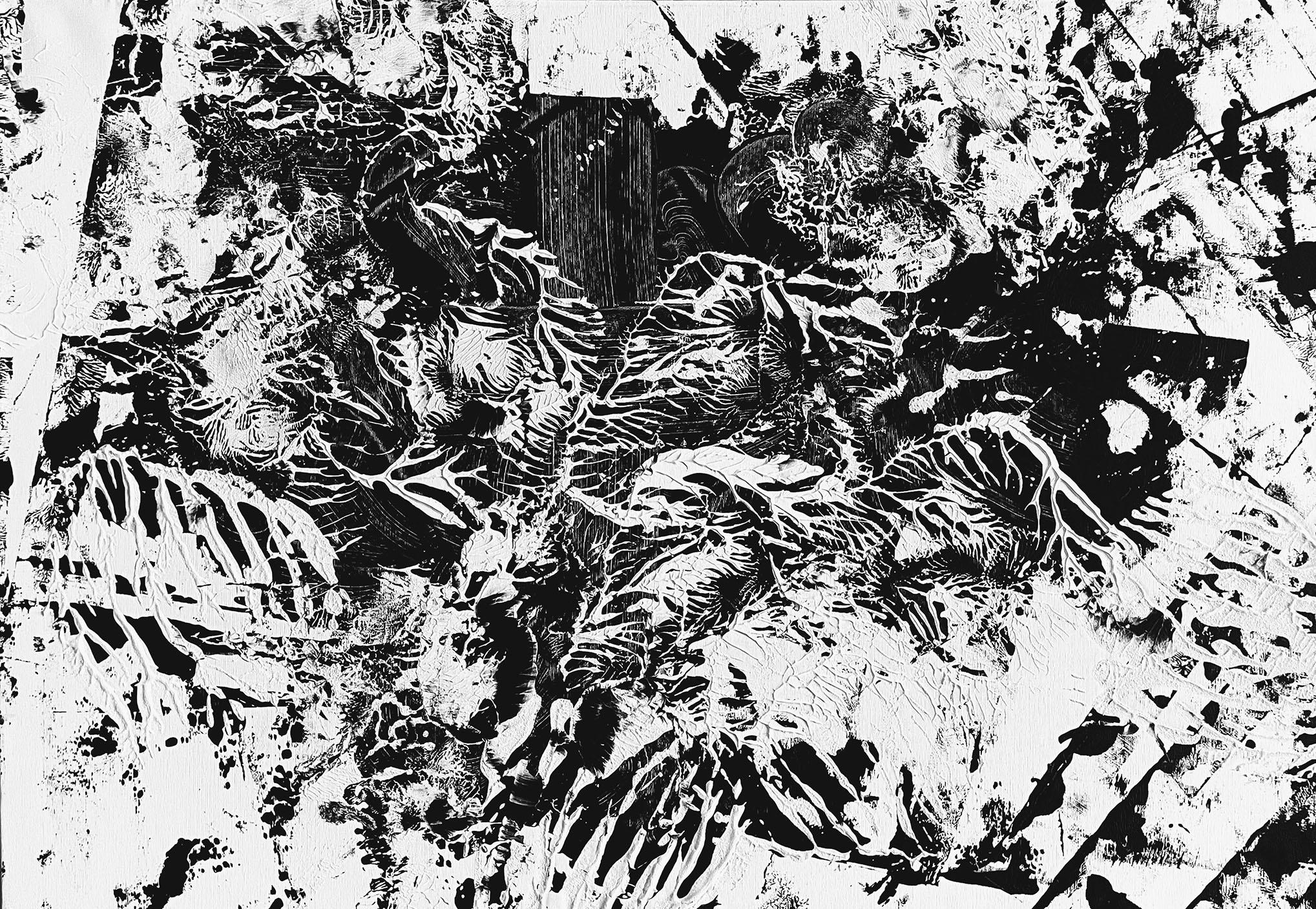 "Abstracts: ""Imprints, Animal 3"", acrylics on canvas,100x80 cm,2021"