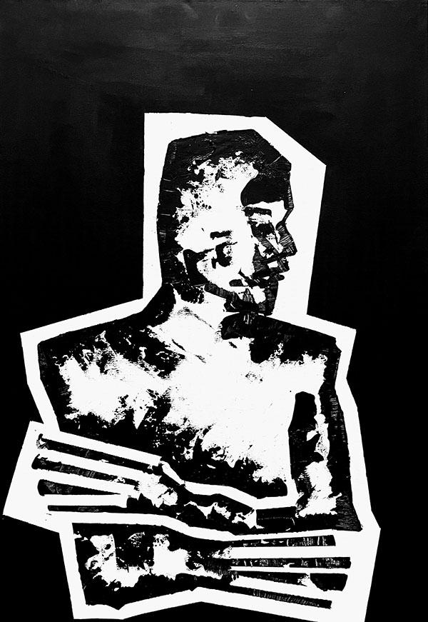 "Shadow: ""01"" (2020), acrylic on canvas, 70x100 cm"